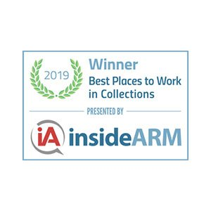 Winner - Best Places to Work in Collections 2019